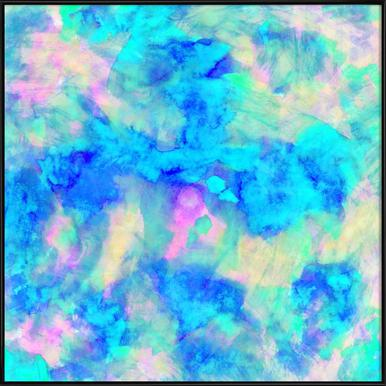 Electrify Ice Blue -Bild mit Kunststoffrahmen