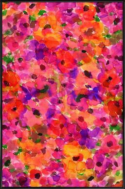 Fleur Rouge -Bild mit Kunststoffrahmen