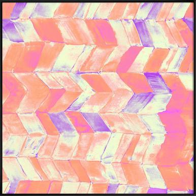 Tutti Frutti Pink -Bild mit Kunststoffrahmen