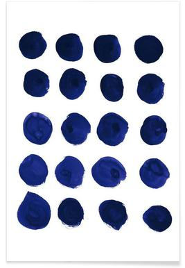 Blue Dots Poster