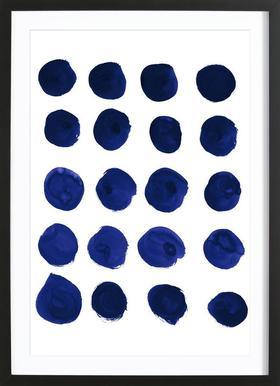 Blue Dots Framed Print