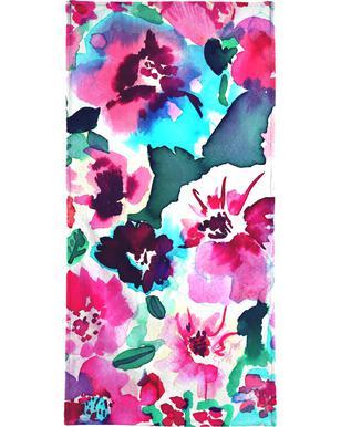 Zoe Floral Pink serviette de plage