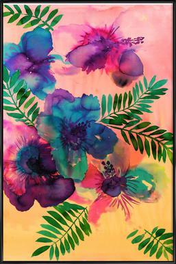 Skye Hibiscus Floral -Bild mit Kunststoffrahmen