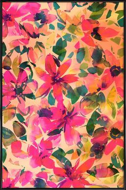 Helena Floral -Bild mit Kunststoffrahmen