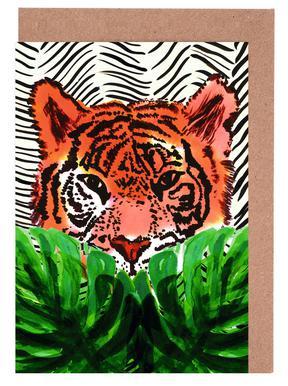 Tiger Set de cartes de vœux
