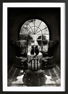 Room Skull Poster in Wooden Frame