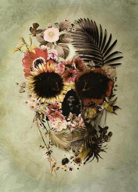 Garden Skull Light Impression sur toile