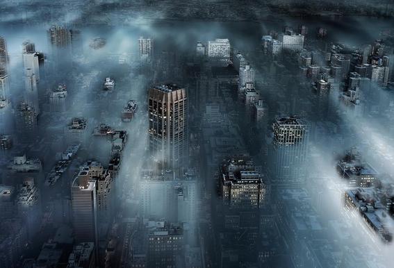 NYC blue - Leif Løndal -Acrylglasbild