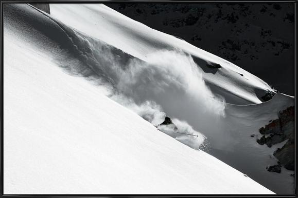 Cloud of Snow - Jakob Sanne -Bild mit Kunststoffrahmen