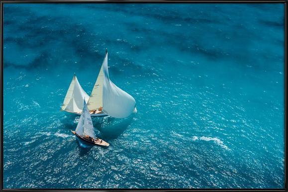 Croisement bleu - Marc Pelissier -Bild mit Kunststoffrahmen
