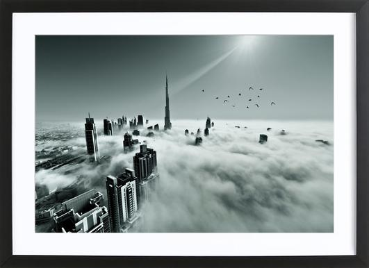 Up up and Above - Naufal Framed Print