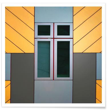 Cube House - Henk Van Maastricht Poster