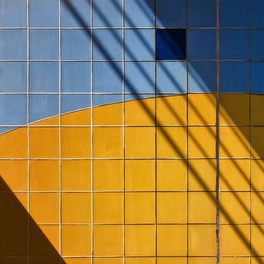 Square-\-Shadow - Henk Van Maastricht Aluminium Print