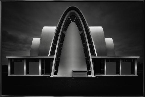 Kópavogskirkja - Oliver Buchmann -Bild mit Kunststoffrahmen