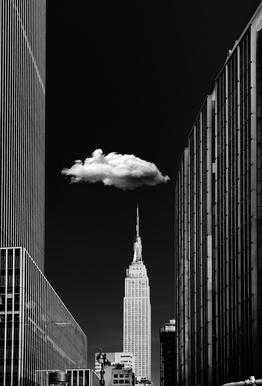 Single Cloud - Jackson Carvalho acrylglas print