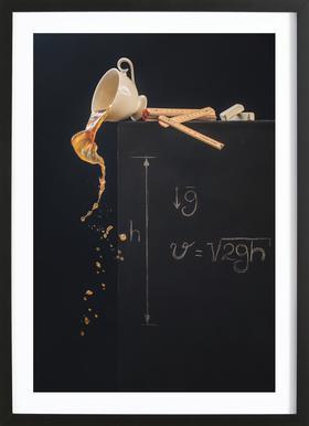 A Study With Free Fall - Dina Belenko ingelijste print