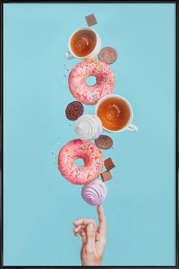 Weekend Donuts - Dina Belenko ingelijste poster