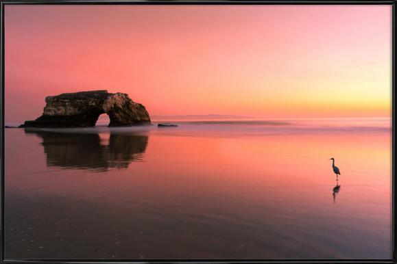 Sunset at the Natural Bridge 2 - Rob Li -Bild mit Kunststoffrahmen