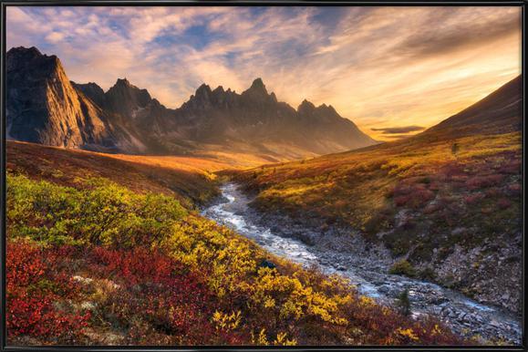 Mountain Paradise - Chris Moore Framed Poster