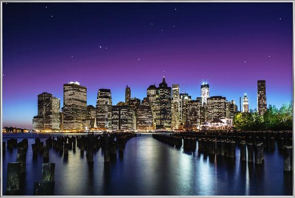 New York Skyline -Poster im Alurahmen