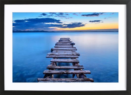 Pier -Bild mit Holzrahmen