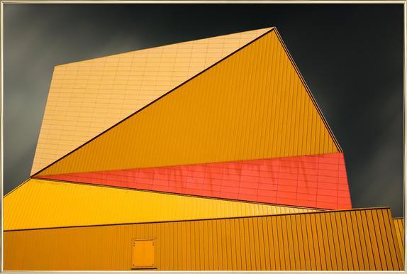 The Yellow Roof Poster im Alurahmen