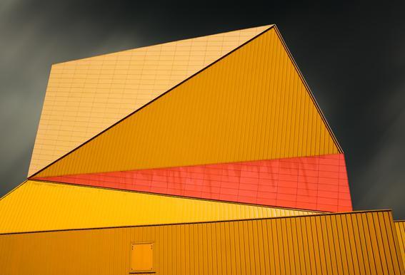 The Yellow Roof Alu-Dibond Druck