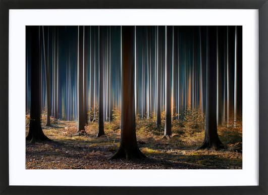 Mystic Wood Poster im Holzrahmen