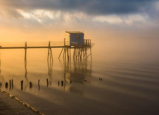 Fishing Cabin -Leinwandbild