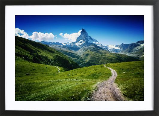 Matterhorn II Poster im Holzrahmen
