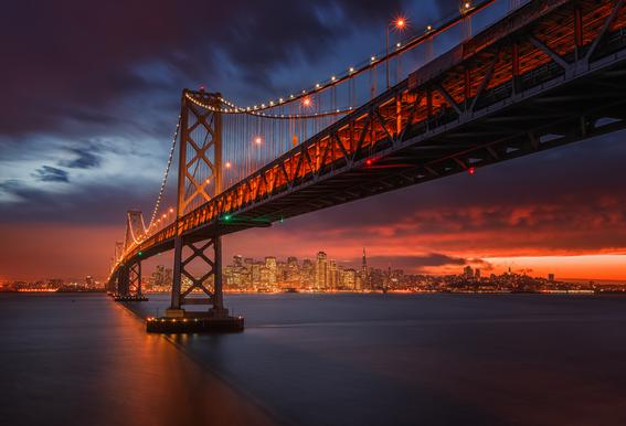 Fire over San Francisco Acrylglasbild