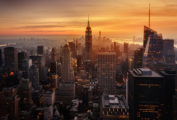 Manhattan's Light -Acrylglasbild