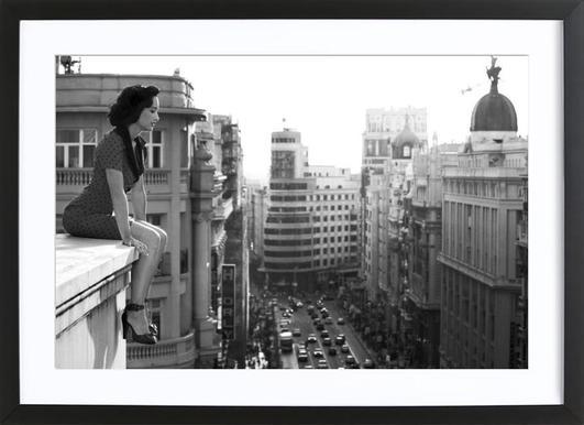 MAD Madrid - Alejandro Marcos Poster in houten lijst