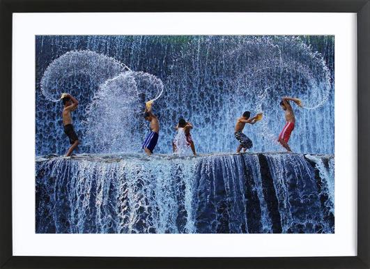 Playing with splash angela muliani hartojo 1x poster in wooden frame