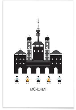 Munich Minimalist Poster