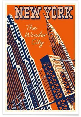 NY The Wonder City Poster