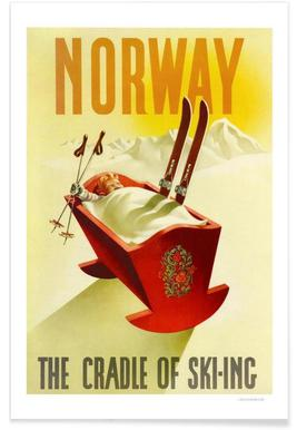 Norway the Cradle of Skiing Poster
