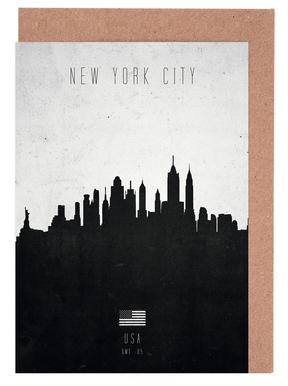 New York City Contemporary Cityscape Set de cartes de vœux