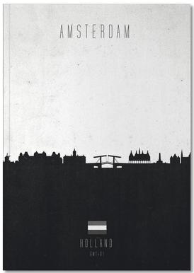 Amsterdam Contemporary Cityscape Notebook