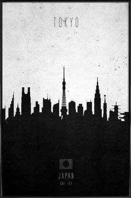 Tokyo Contemporary Cityscape Affiche sous cadre standard