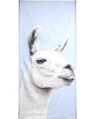 Blue Llama II Beach Towel