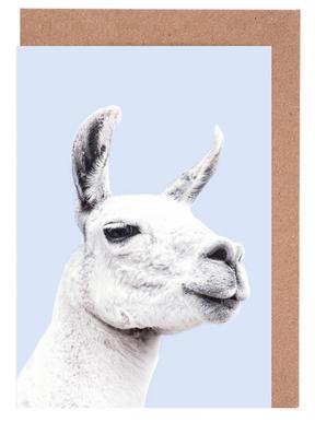 Blue Llama II cartes de vœux
