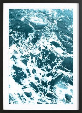 Ocean Blue affiche sous cadre en bois