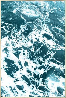 Ocean Blue affiche sous cadre en aluminium