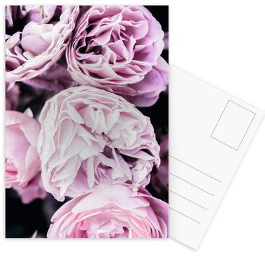 Pink flowers II Postcard Set