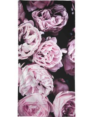 Pink Flowers III serviette de bain