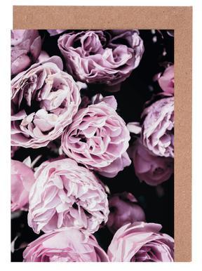 Pink Flowers III cartes de vœux