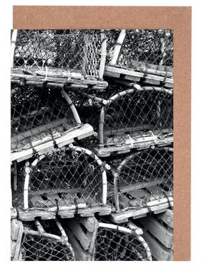 Lobster Traps Greeting Card Set