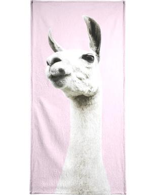 Pink Llama Beach Towel