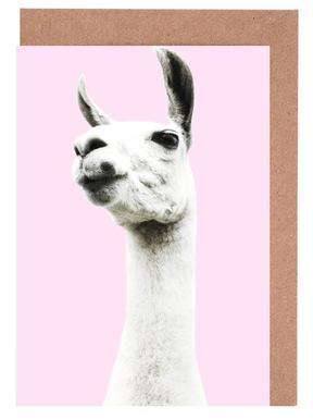 Pink Llama cartes de vœux